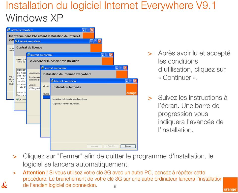 pilote cle internet everywhere orange
