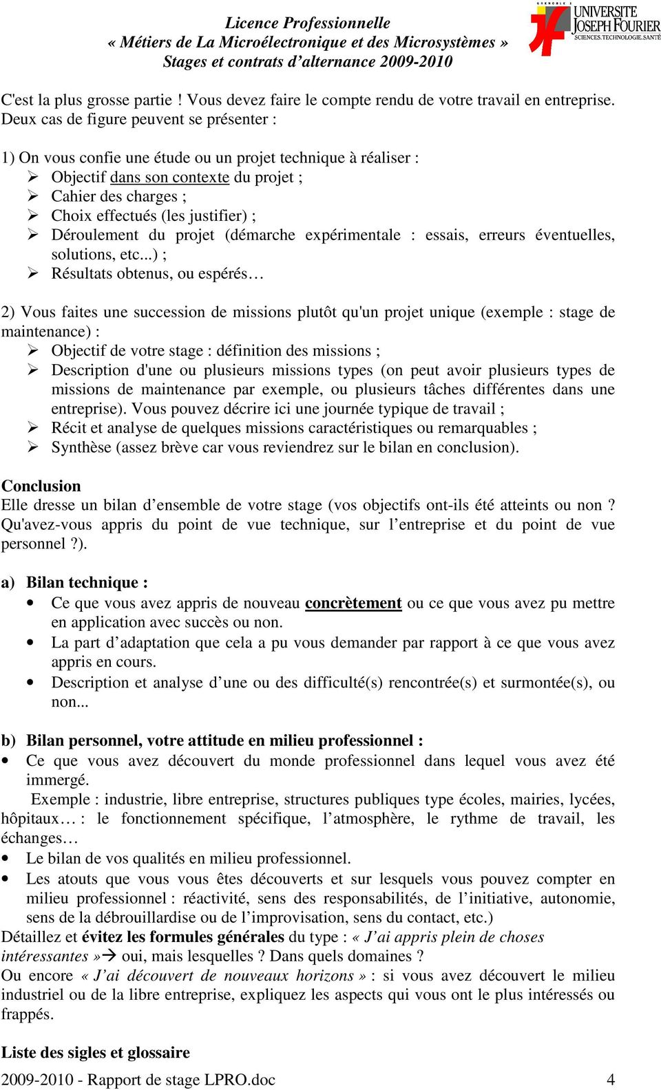 Introduction memoire de licence
