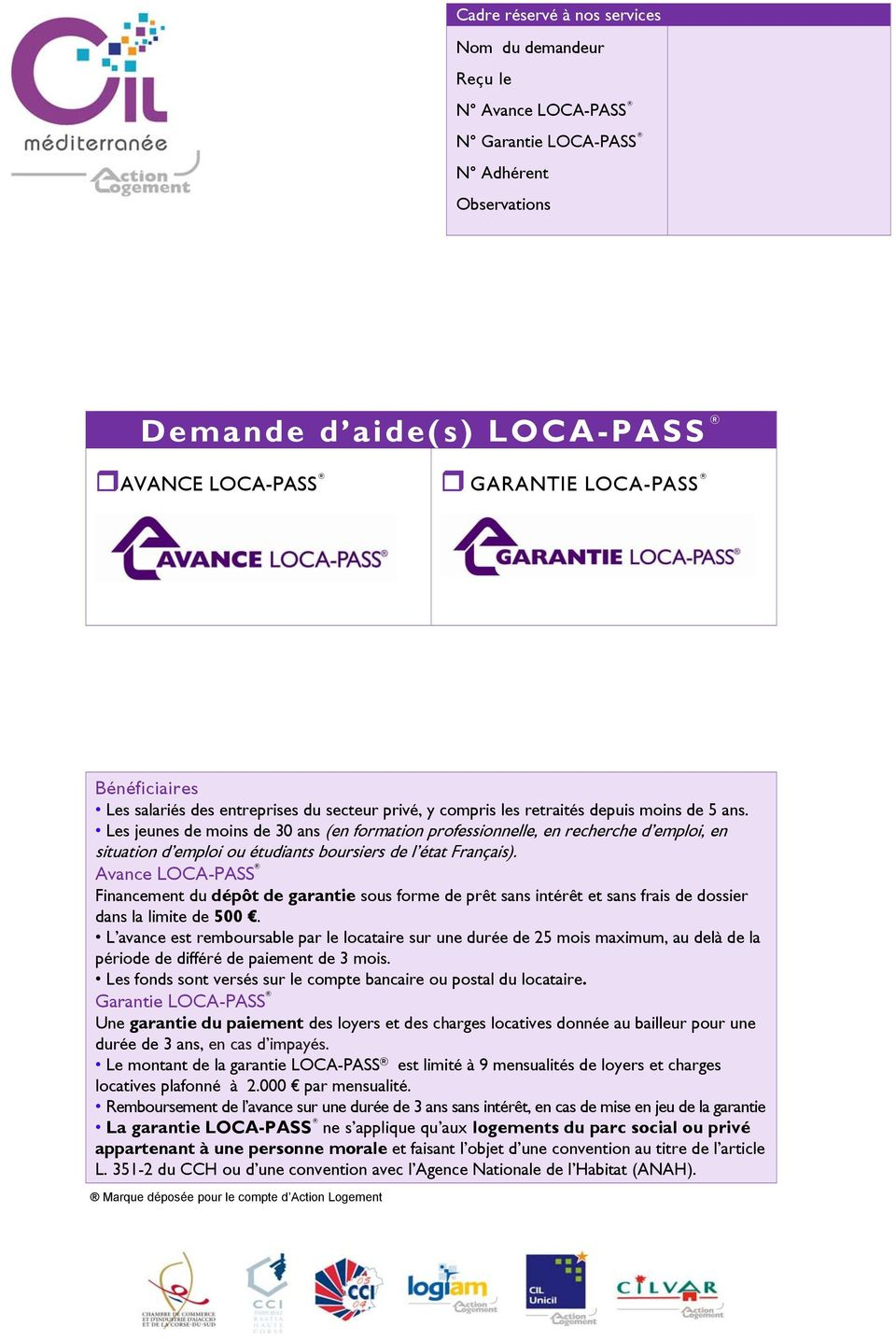 dossier caution locapass