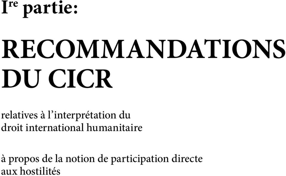 international humanitaire à propos de la