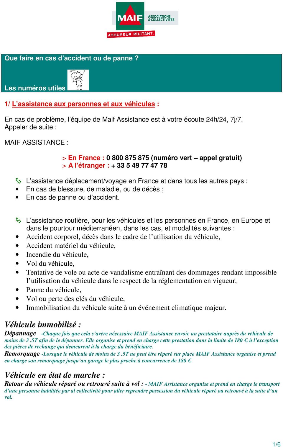 constat amiable automobile maif