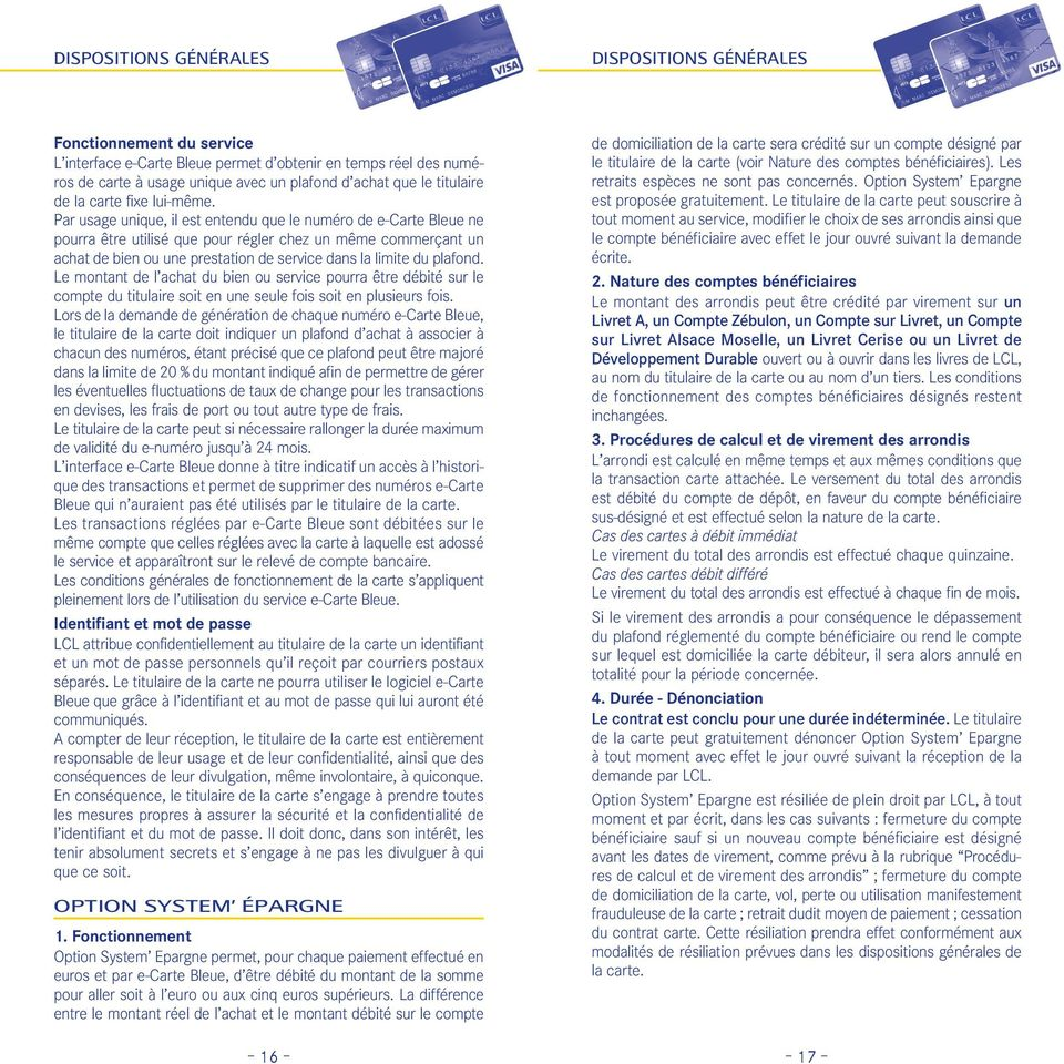 Carte Bleue Usage Unique.Dispositions Generales Pdf