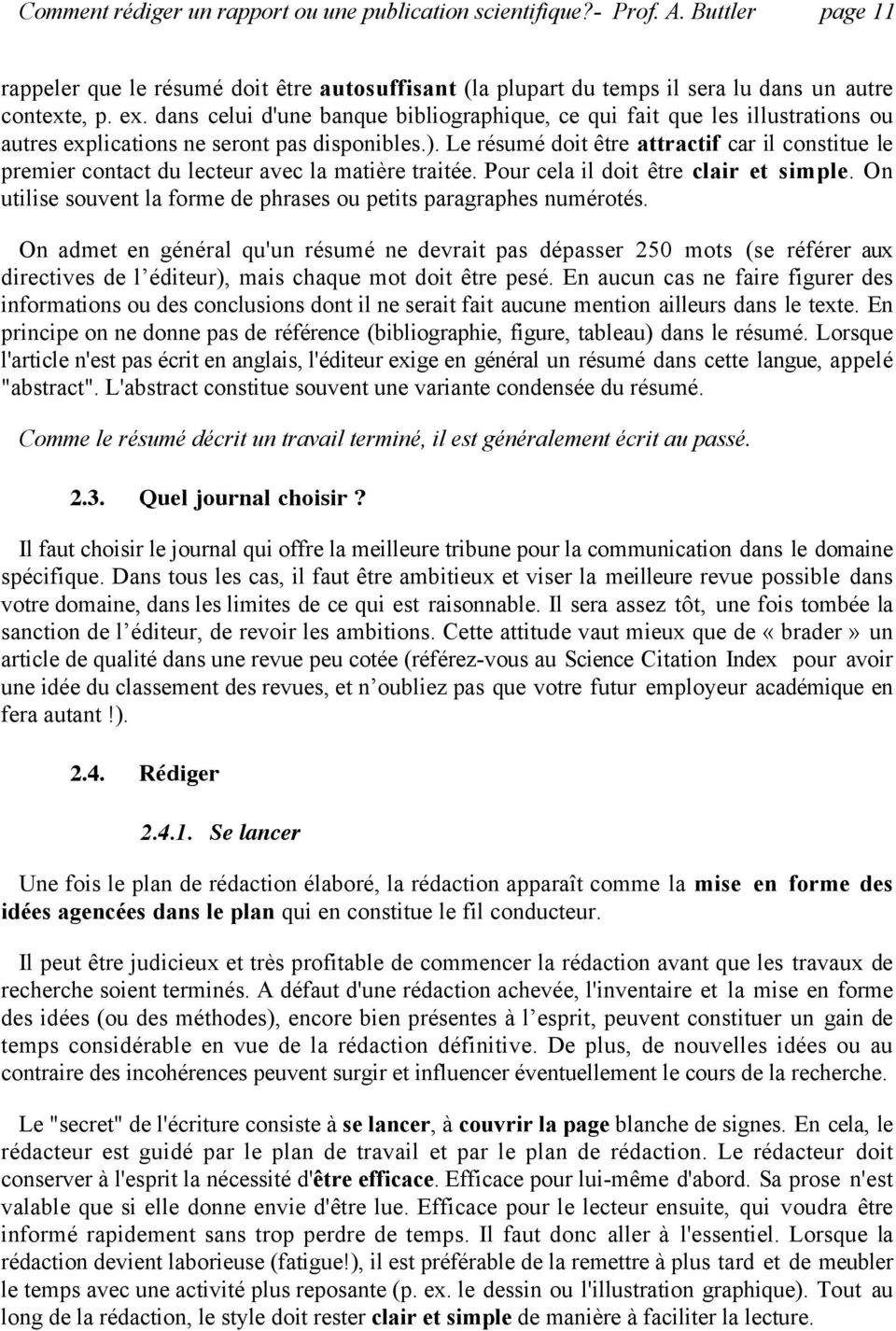 comment r u00e9diger un rapport ou une publication scientifique