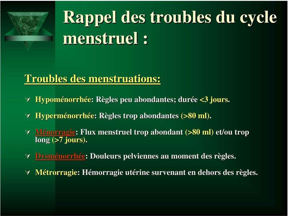 TROUBLES DU CYCLE MENSTRUEL - PDF