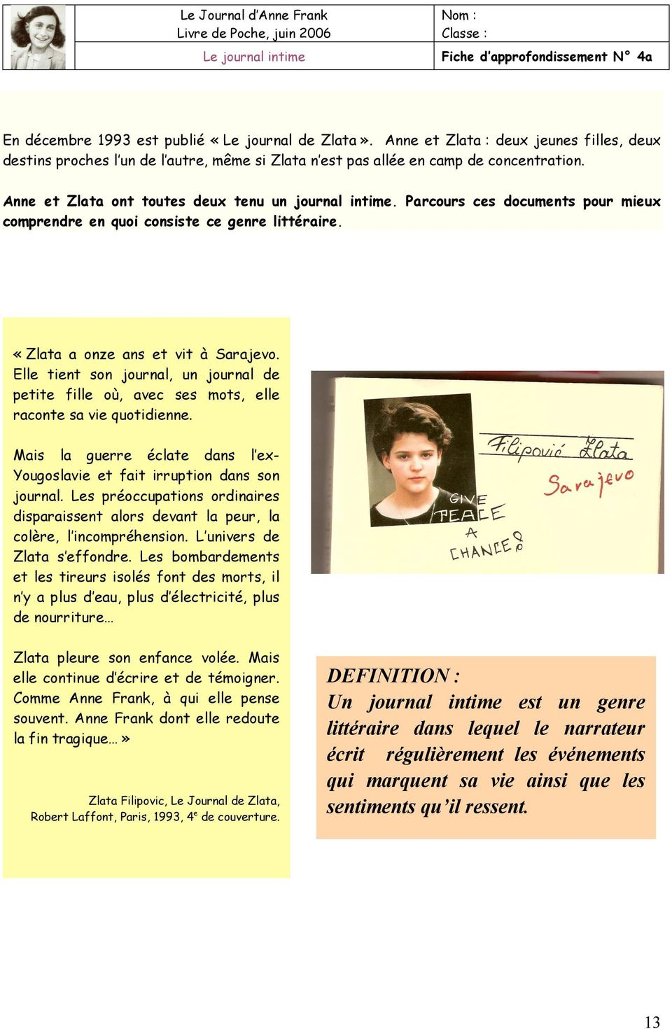 Le Journal D Anne Frank Pdf