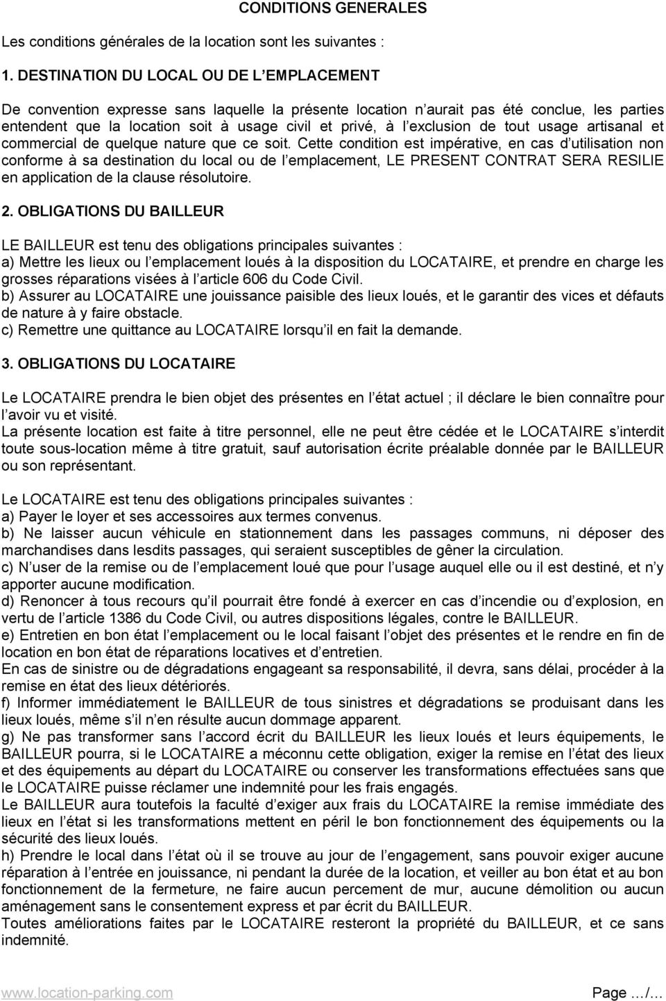 Contrat De Location Articles 1714 A 1751 Du Code Civil Entre Les