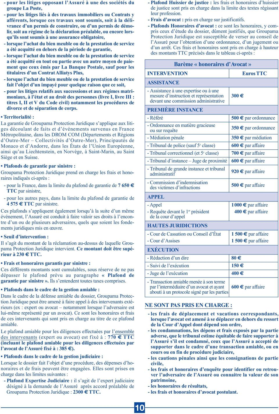 Les Assurances Alliatys Conditions Generales Valant Notice D