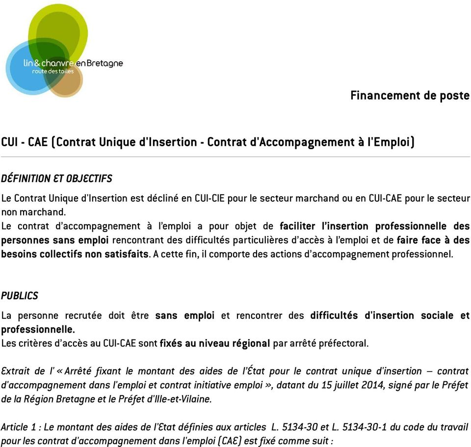 Cui Cae Contrat Unique D Insertion Contrat D Accompagnement A L