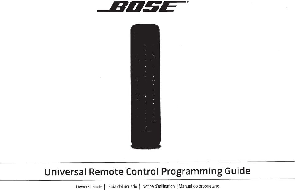 universal remote control programming guide owner s guide i guia del