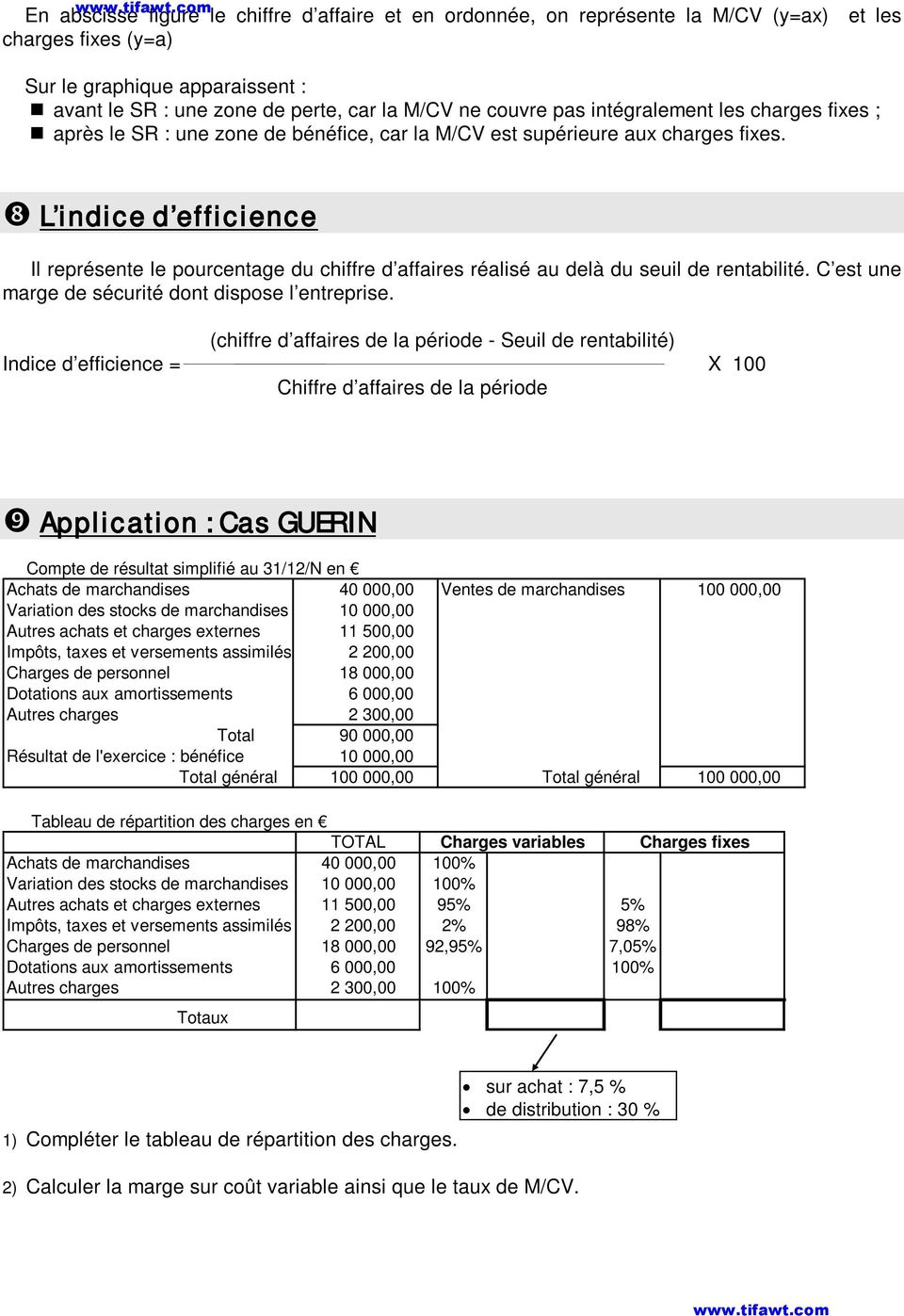 Les Differentes Categories De Charges Pdf