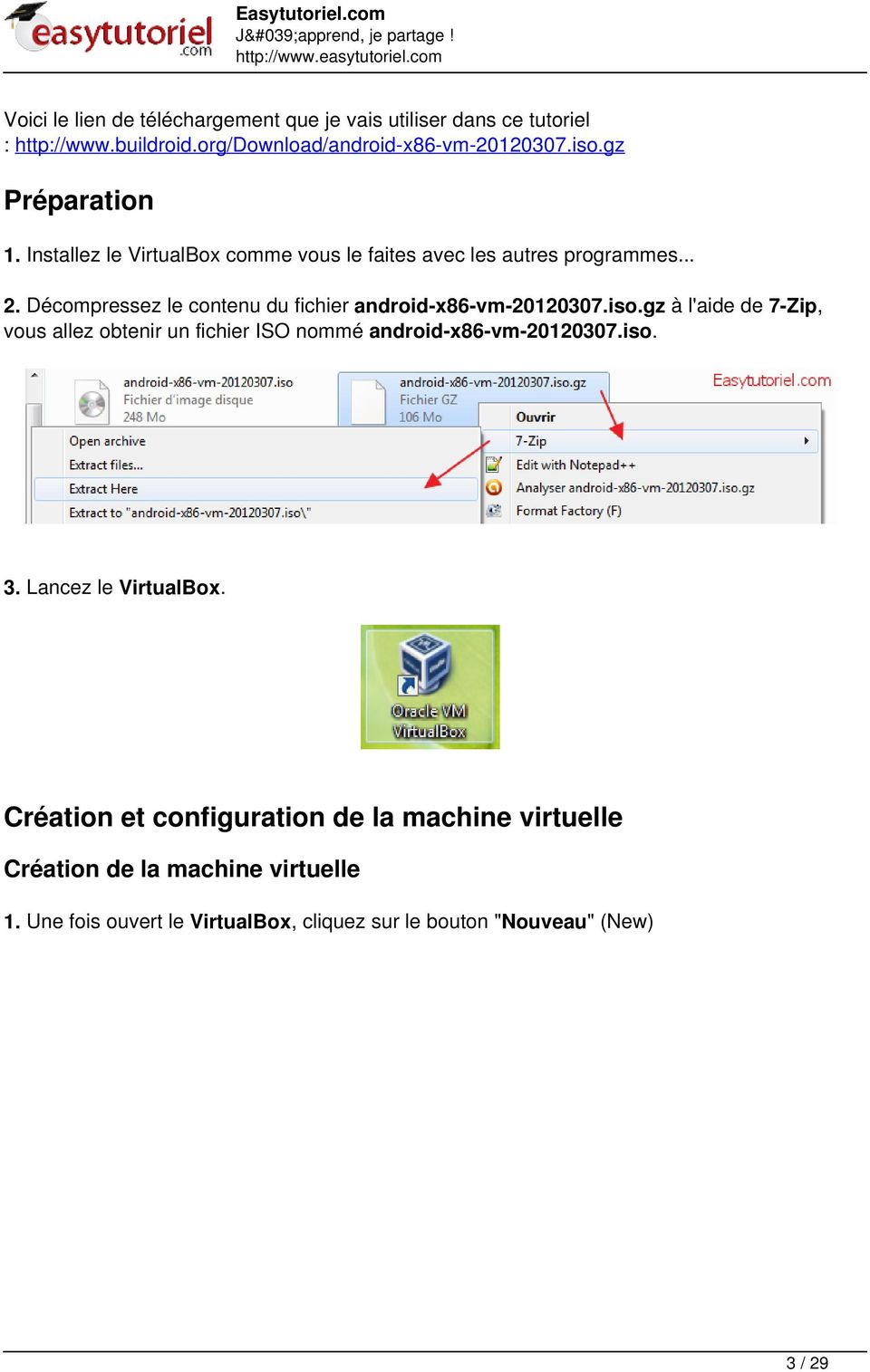 Comment installer Android 4 sur PC (VirtualBox)! - PDF