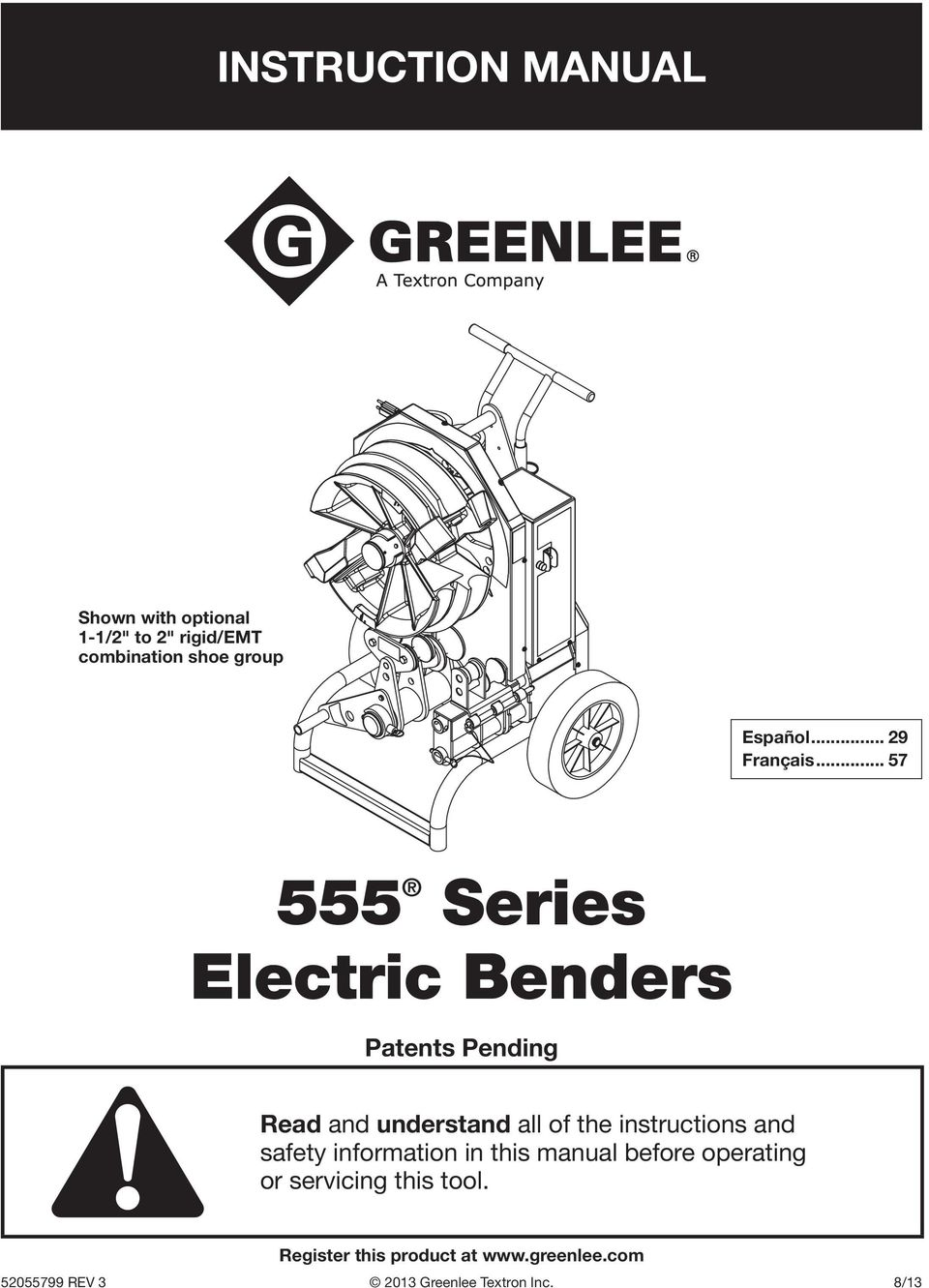 555 series electric benders pdf