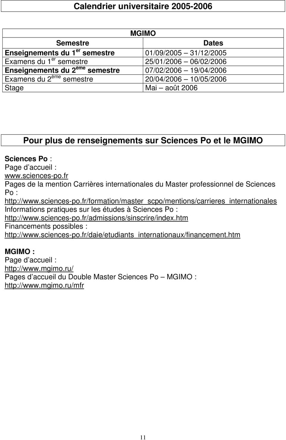 Sciences Po Calendrier Universitaire.Sciences Po Mgimo Double Master En Affaires Internationales