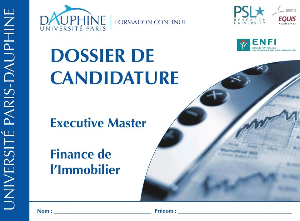 CANDIDATURE Executive Master