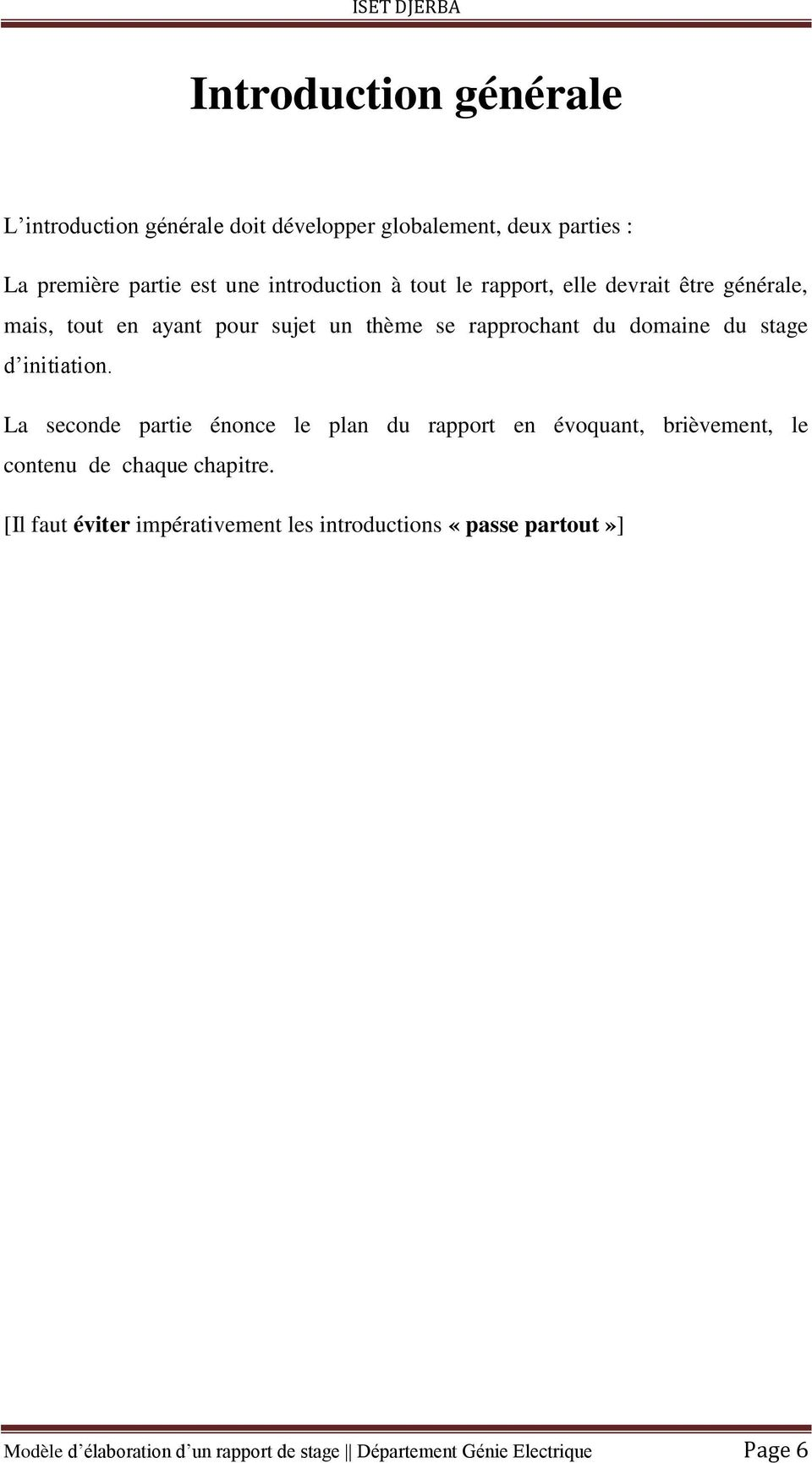 Modele Du Rapport Stage Initiation Pdf