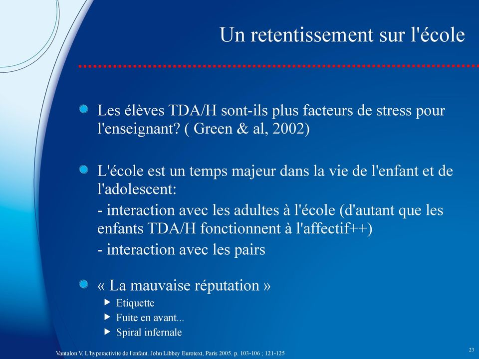 Le Trouble du Déficit de l'attention / Hyperactivité, - PDF