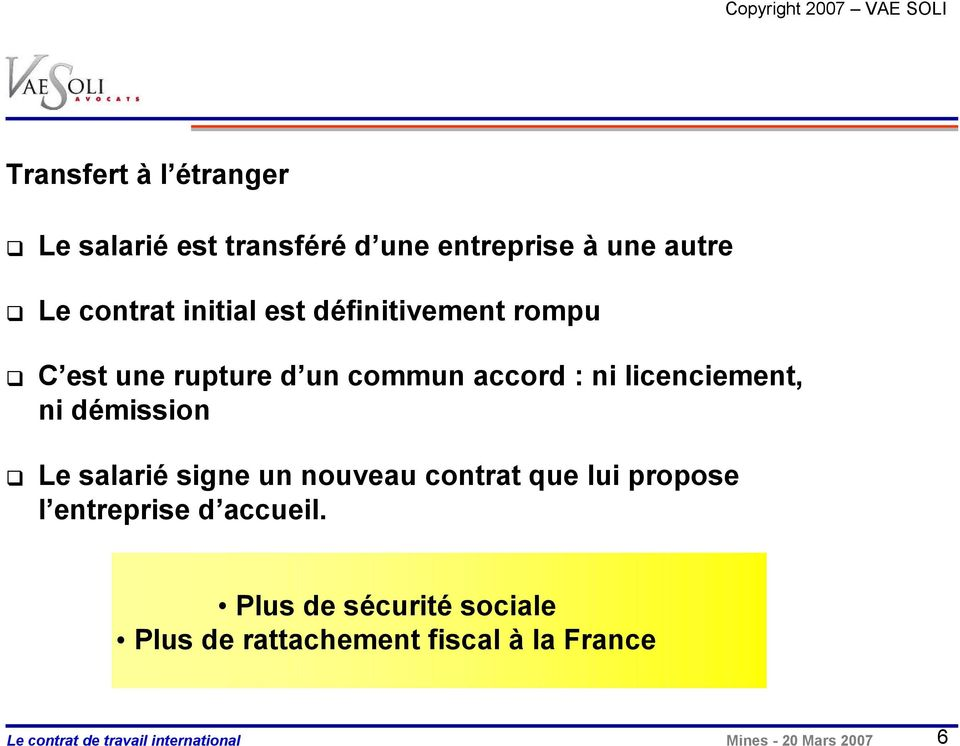 Mobilite Internationale Un Contrat De Travail Pertinent Pdf