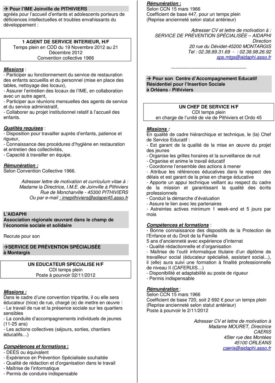 Région Centre L Adapei 41 Recrute Pdf Free Download