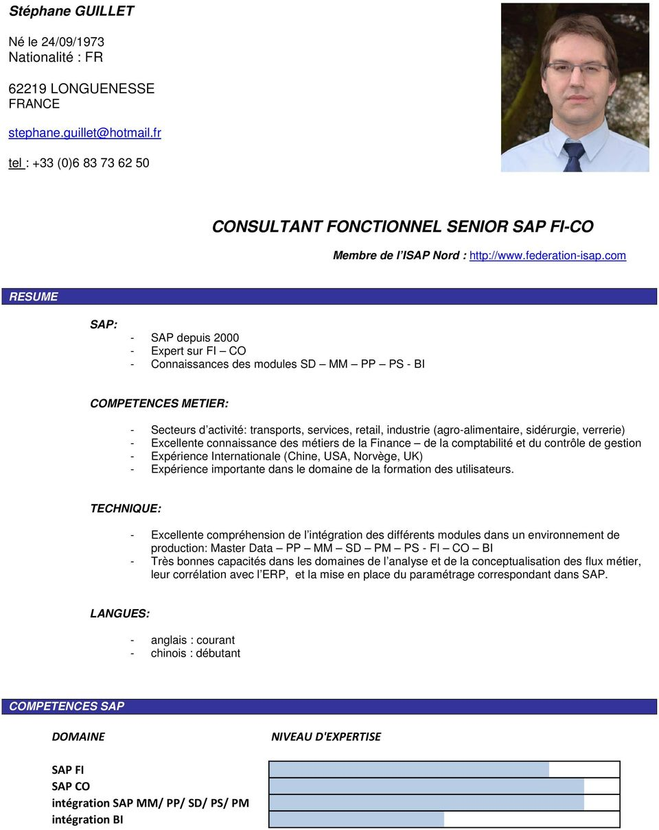 consultant fonctionnel senior sap fi-co