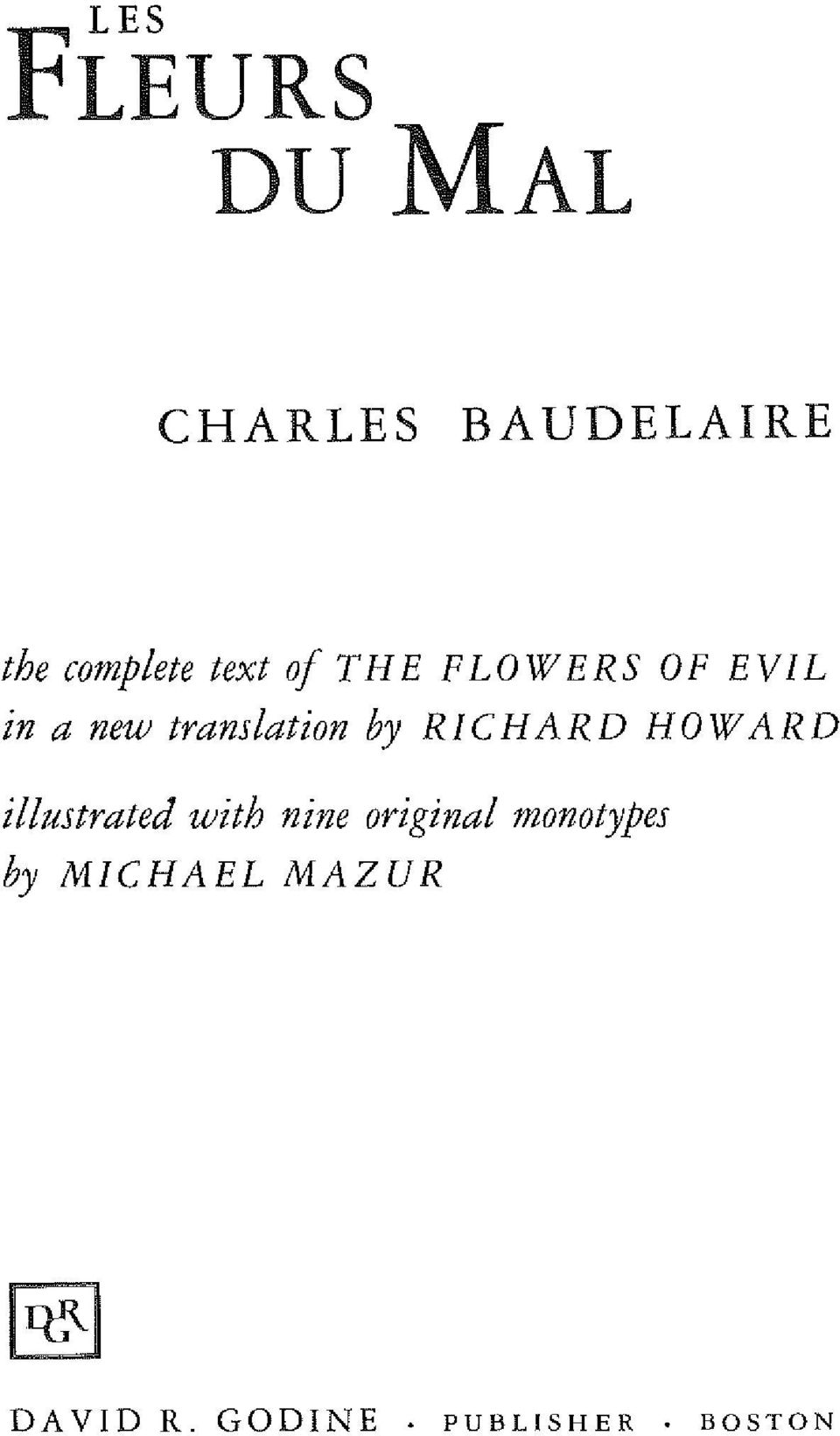 Lux Basic Combo: Charles Baudelaire Flowers Of Evil Pdf ...