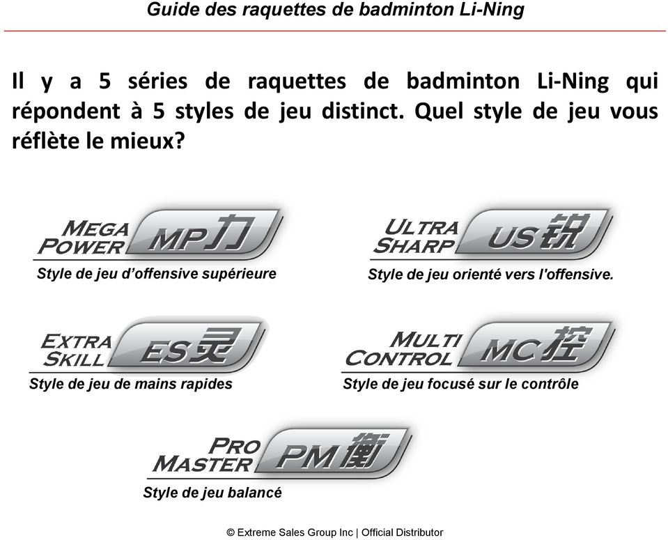 Official Inc Raquettes Des Sales Badminton De Guide Group Extreme SBq7pxzw