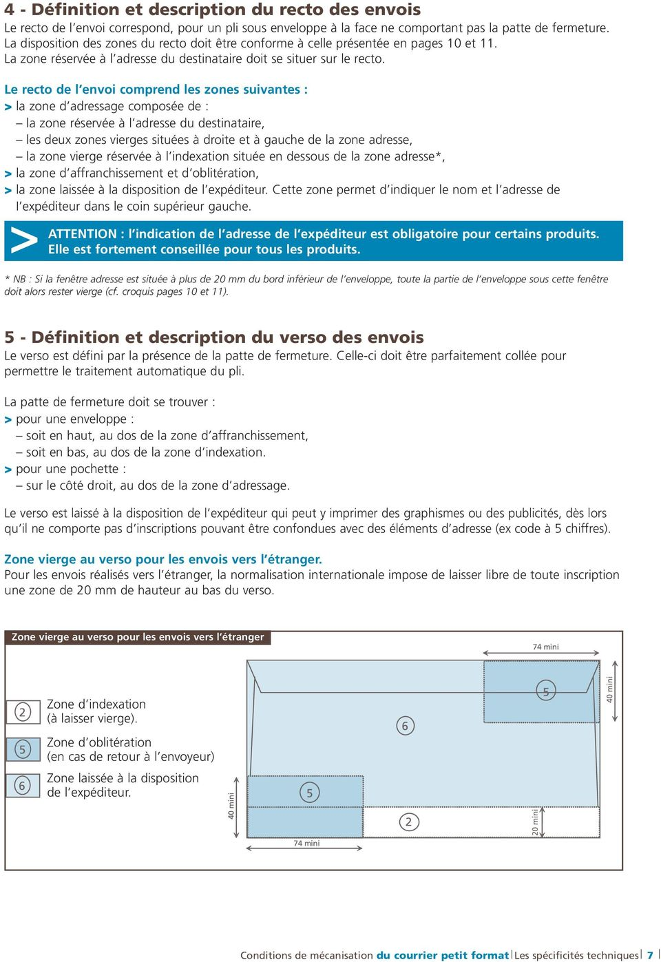 Conditions De Mécanisation Du Courrier Petit Format Pdf