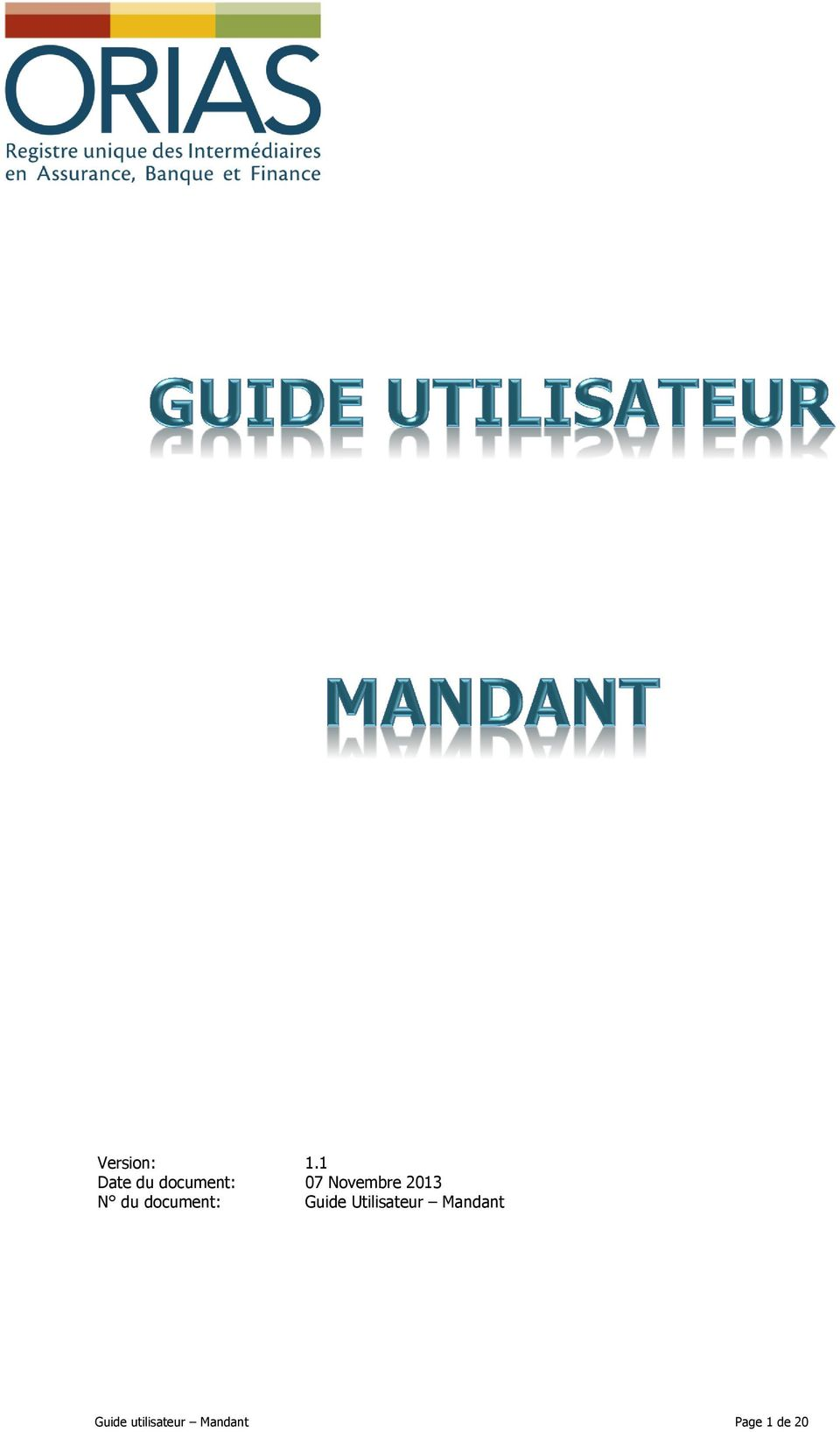 2013 N du document: Guide