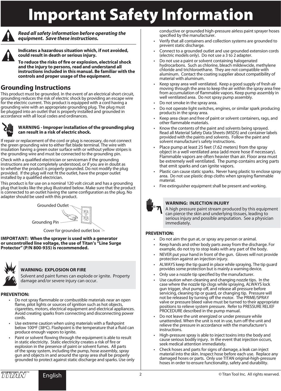 IMPACT 840  Airless Sprayer  Owner s Manual Notice d