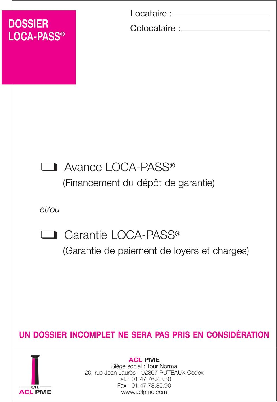 dossier loca pass caution