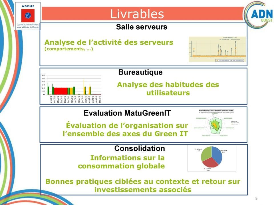 l organisation sur l ensemble des axes du Green IT Consolidation Informations sur la