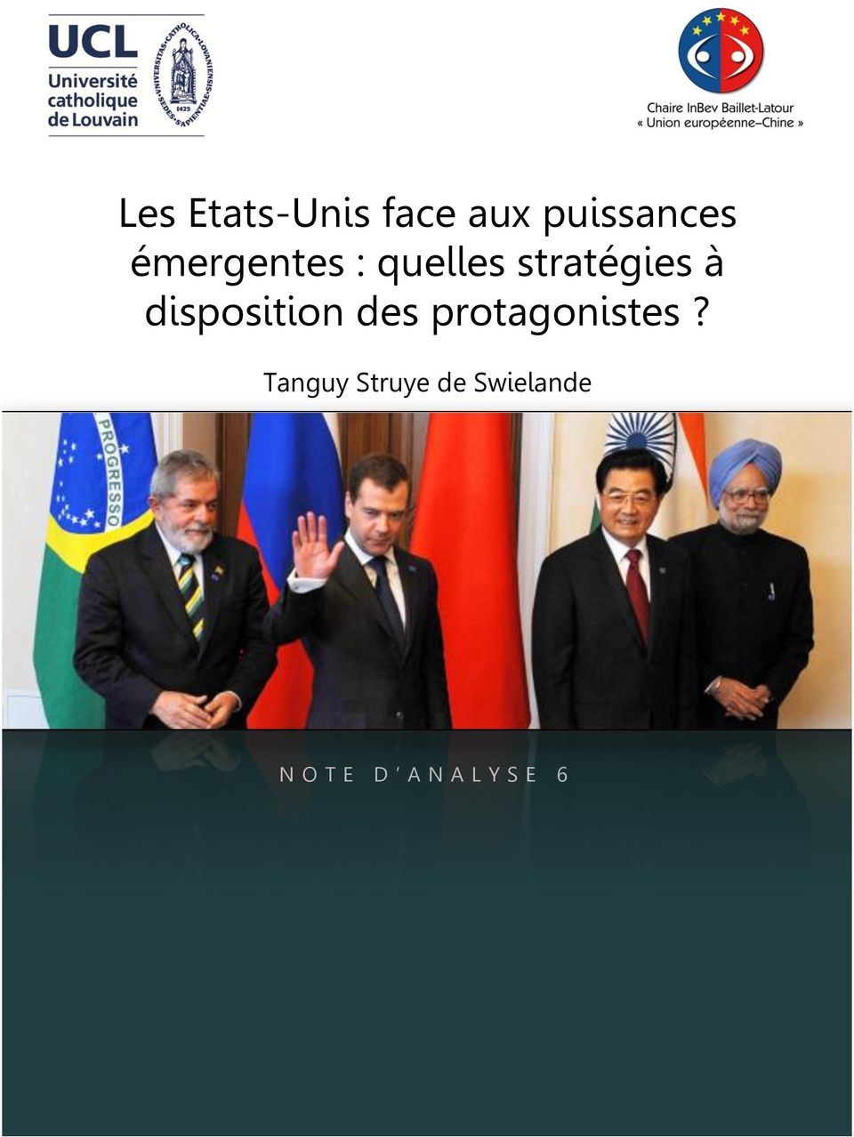 disposition des protagonistes?