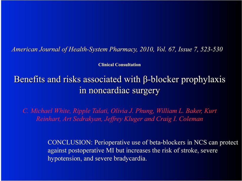 postoperative MI but increases the risk