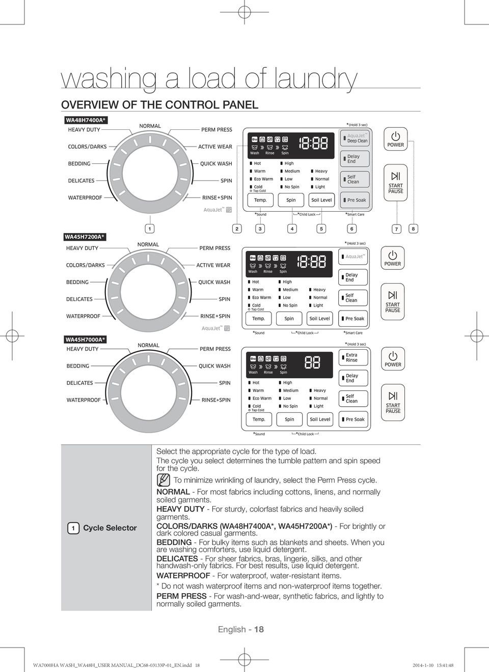 Washing Machine User Manual Imagine The Possibilities Pdf Drain Hose Additionally Wiring Diagram Normal For Most Fabrics Including Cottons Linens And Normally Soiled Garments Heavy