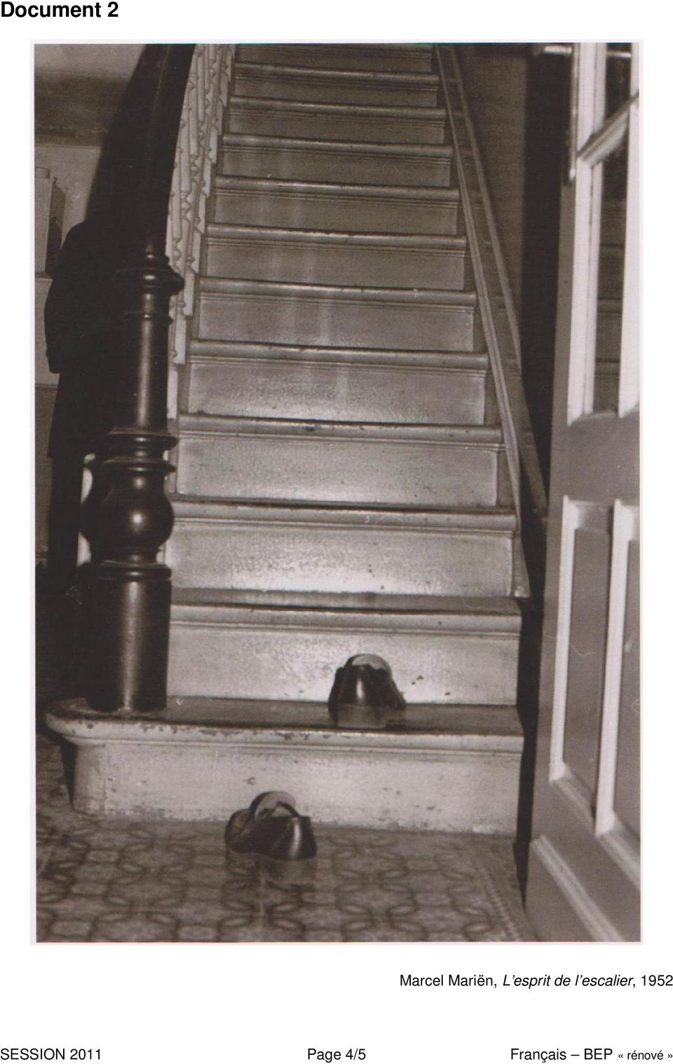 escalier, 1952 SESSION