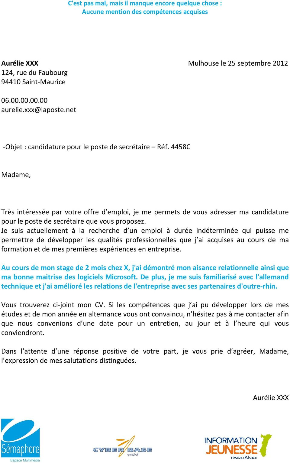 Lettre Motivation N Pdf