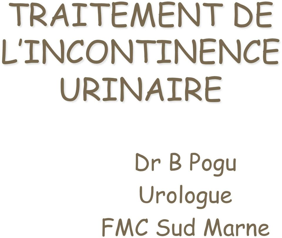 URINAIRE Dr B