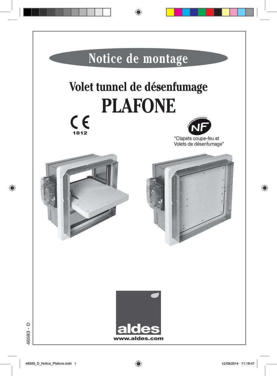 notice de montage volet tunnel de d senfumage plafone clapets coupe feu et volets de. Black Bedroom Furniture Sets. Home Design Ideas