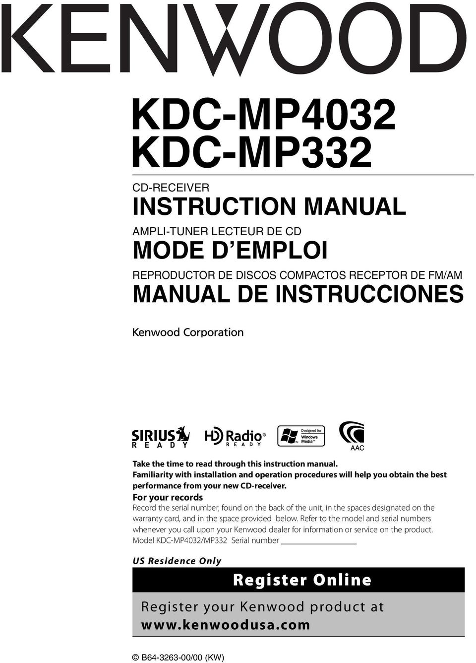 Kenwood Kdc Mp332 Wiring Diagram 142 Mp4032 Pdf Rh Docplayer Fr Harness 248u