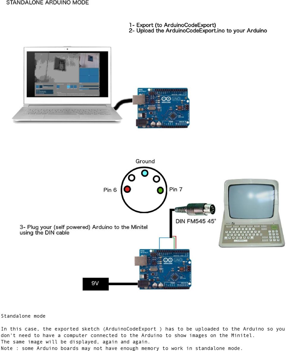 Arduino to show images on the Minitel.