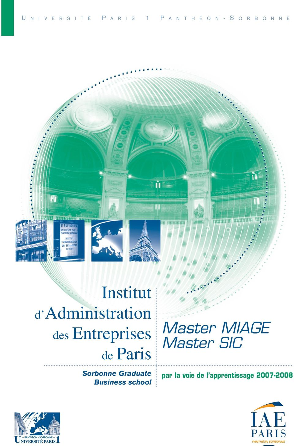 de Paris Sorbonne Graduate Business school Master