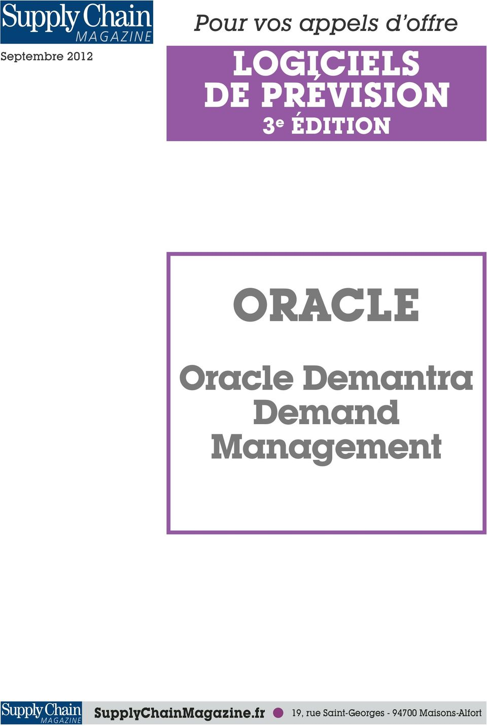 Demantra Demand Management