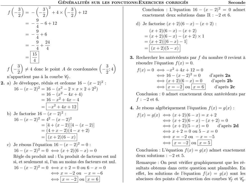 Exercice 4 Seconde Fonctions Generalites Exo 071 Texte Pdf Free Download