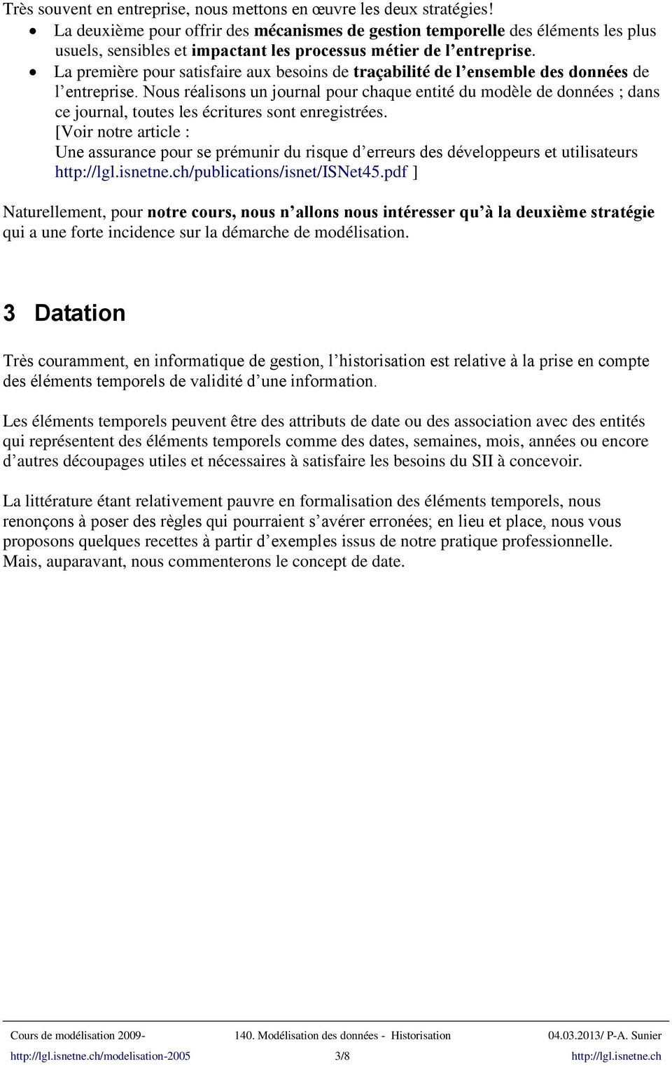 Association relative de datation