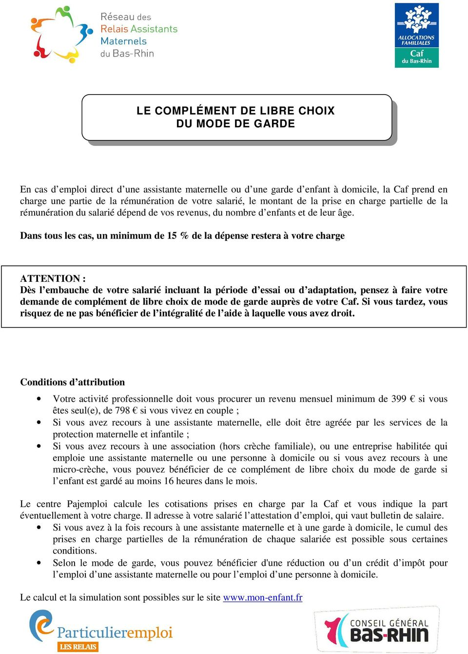 Guide De La Relation Parent Employeur Assistant Maternel Pdf