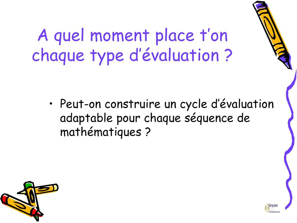 Peut-on construire un cycle d