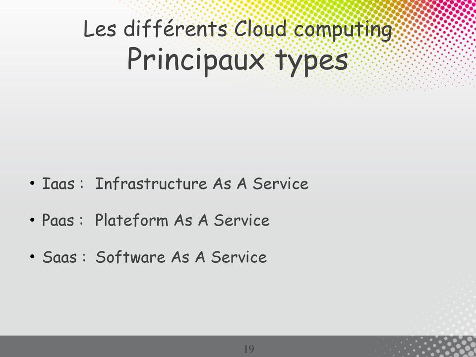 Infrastructure As A Service Paas :