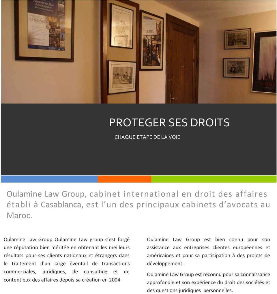 Oulamine Law Group Cabinet International En Droit Des Affaires