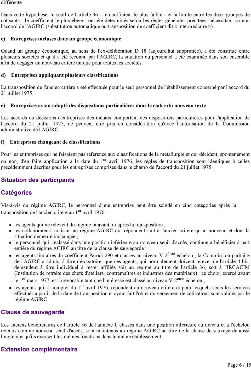 Conditions D Application Des Nouvelles Classifications Au Regard Du