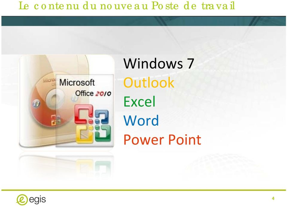 travail Windows 7