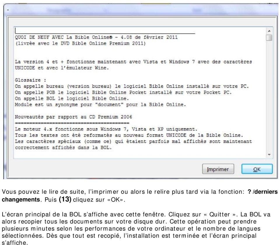 Installer la Bible Online DVD-Rom de Importantia - PDF